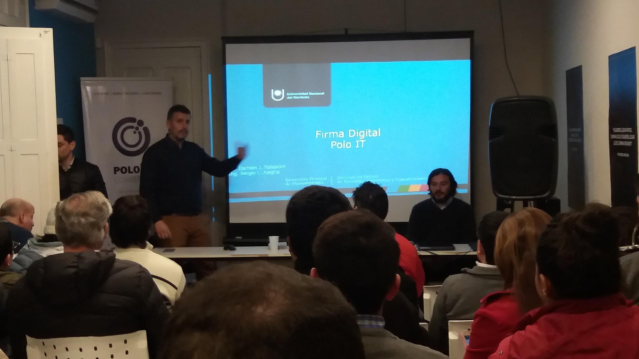 Curso LA FIRMA DIGITAL en el Club de Emprendedores de Corrientes.